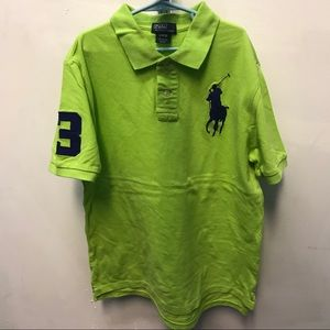 POLO RL Lime Green Polo Shirt - Size 14-16